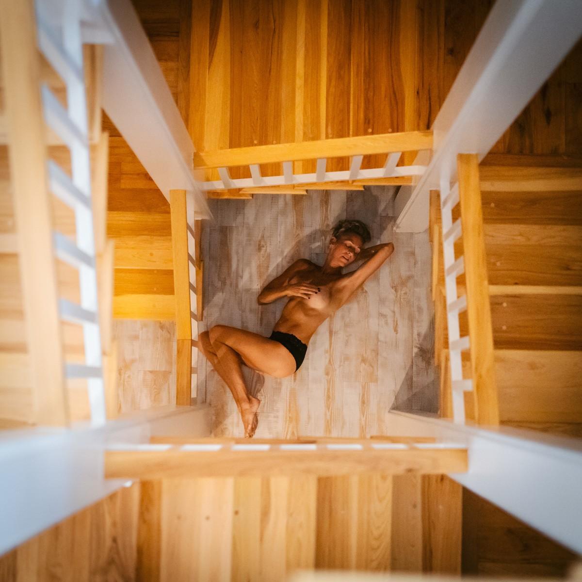 Boudoir staircase